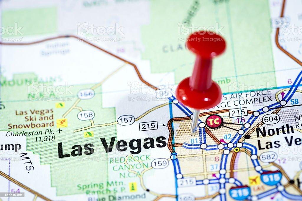 Us Cities On Map Series Las Vegas Nevada Stock Photo - Las vegas us map