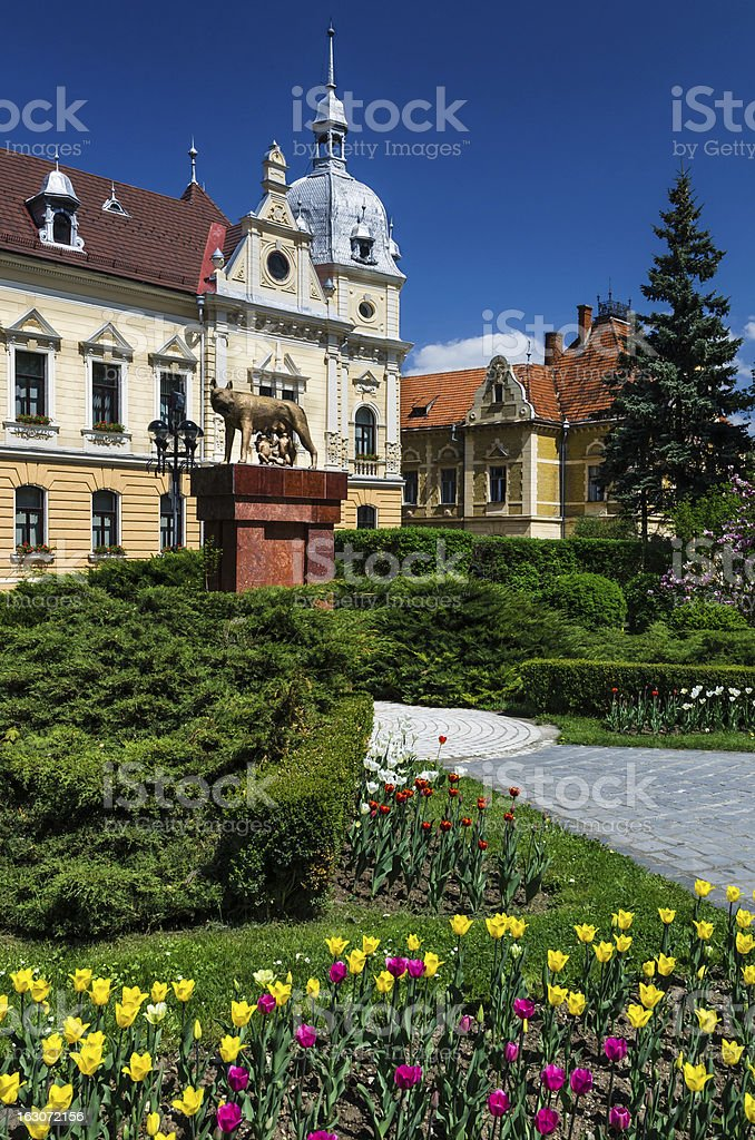 Citihall of Brasov, Romania stock photo