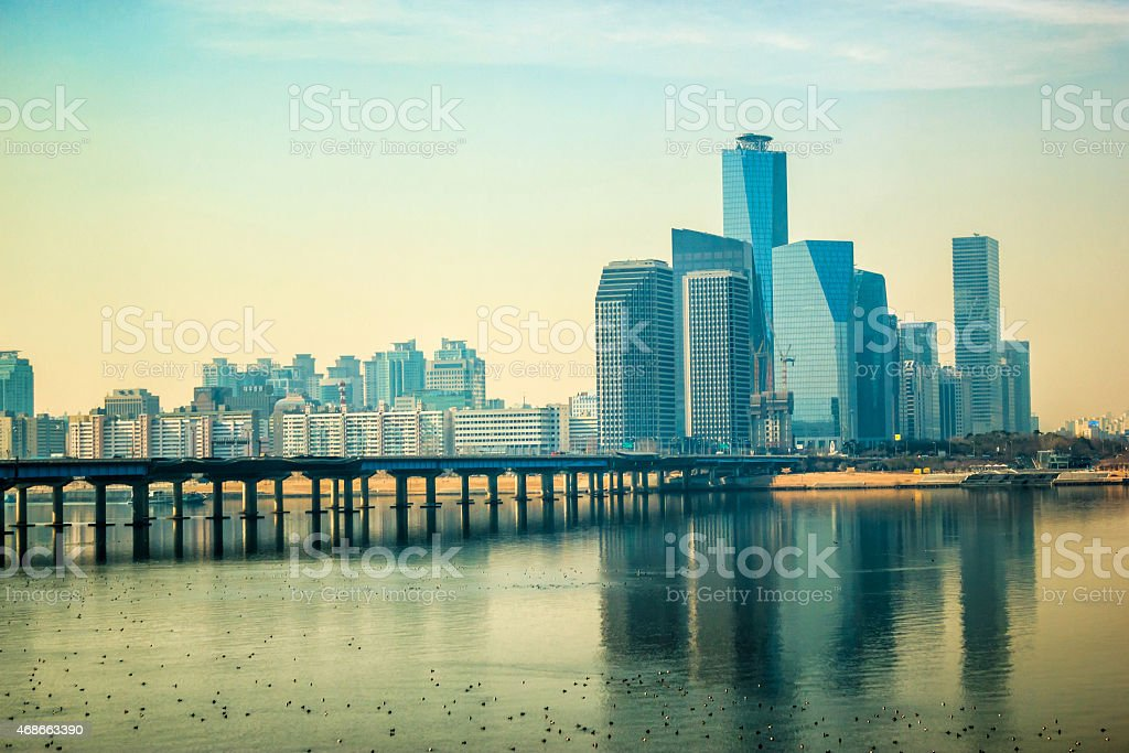 Citiscape at Seoul South Korea stock photo