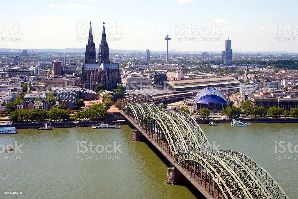Citiscape of Cologne stock photo