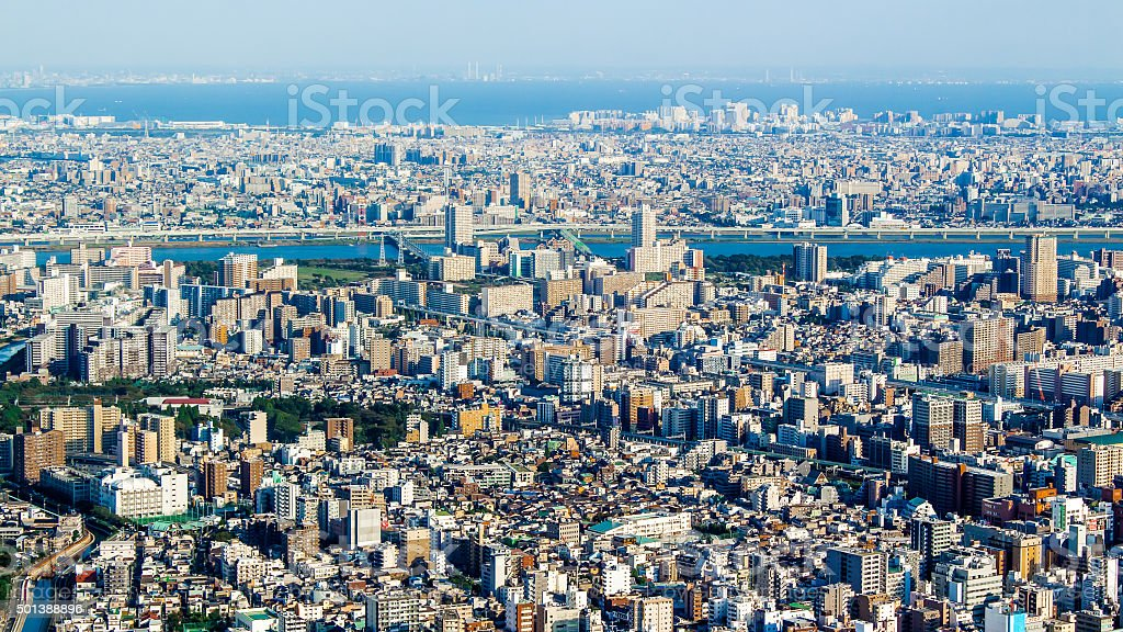 Citiscape of Tokyo, Japan stock photo