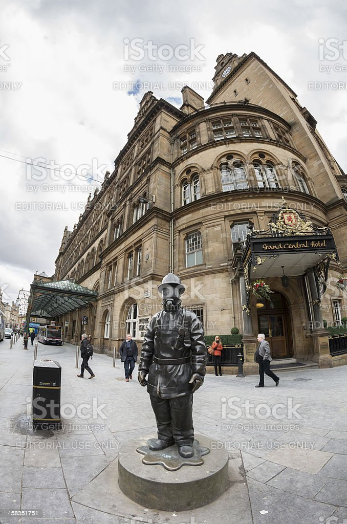 Citizen Firefighter Monument, Glasgow stock photo