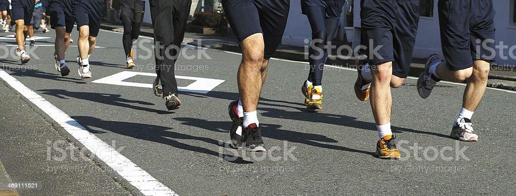 Citizen marathon royalty-free stock photo