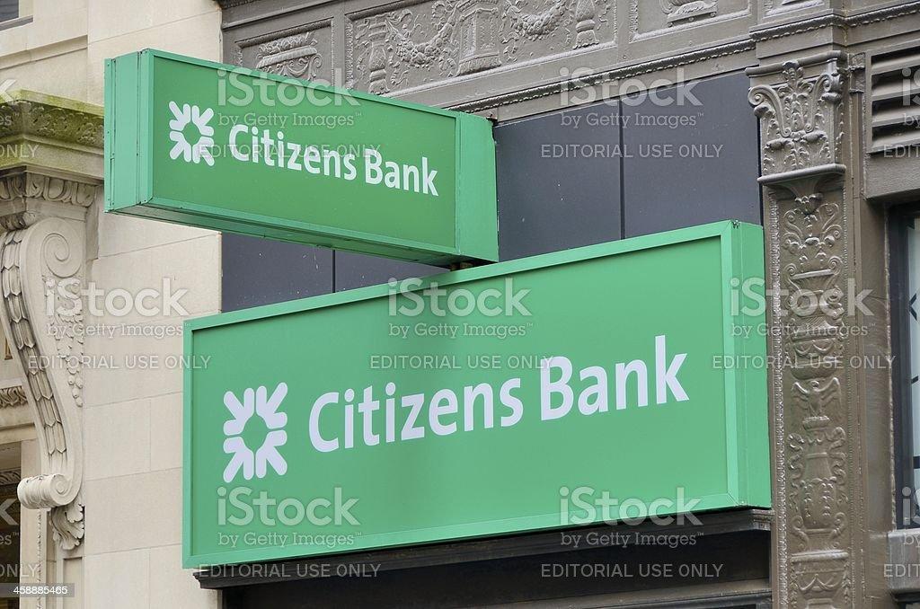Citizens Bank, Boston stock photo