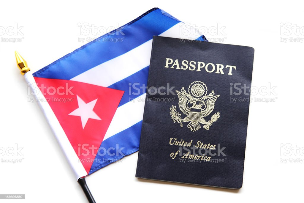 USA citizens travel to Cuba stock photo
