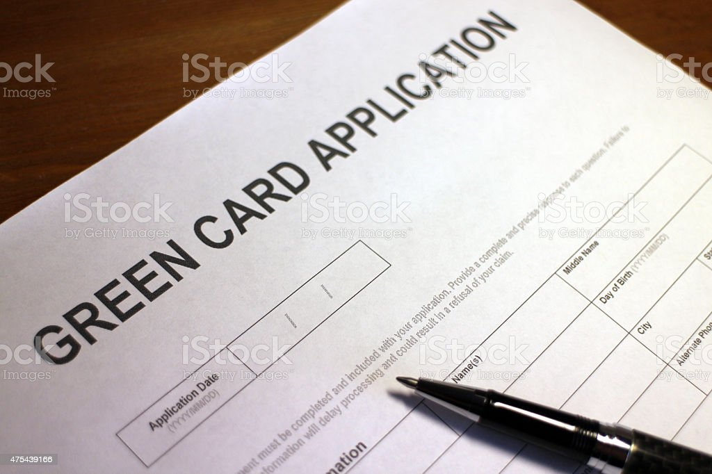 Us Citizenship Application Form Stock Photo   Istock