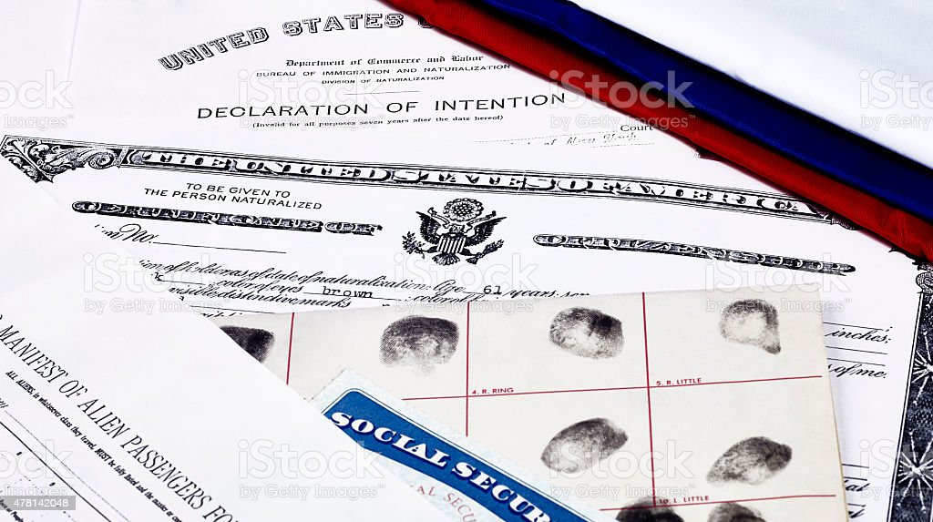 CItizenship Papers stock photo