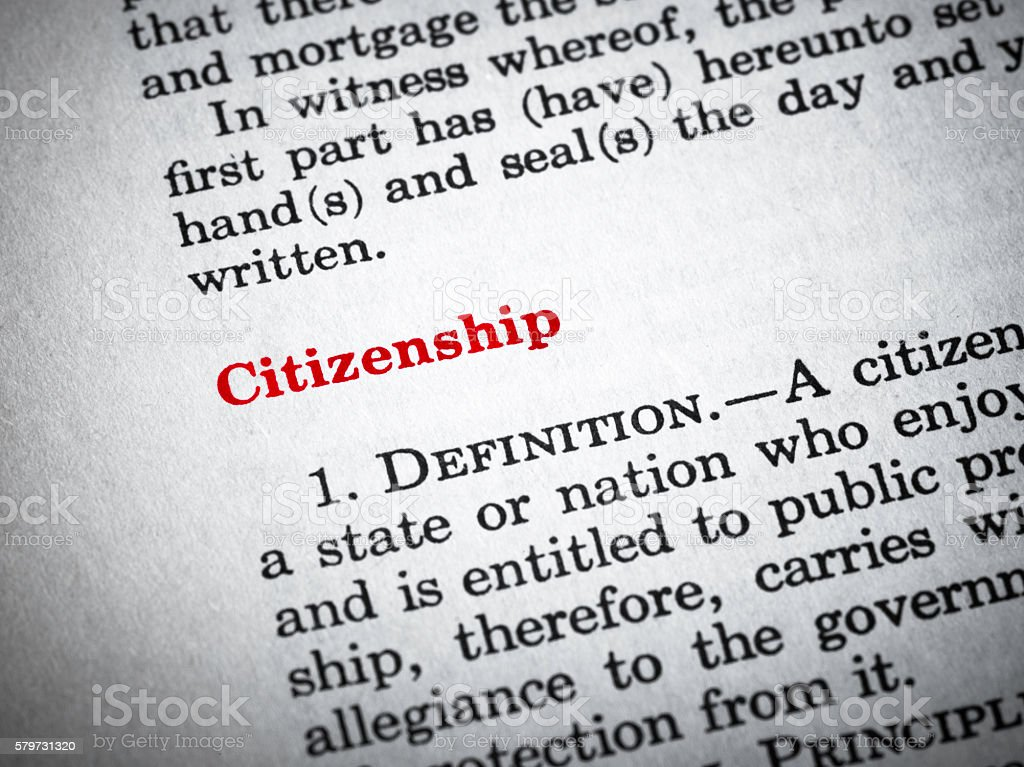 Citizenship stock photo