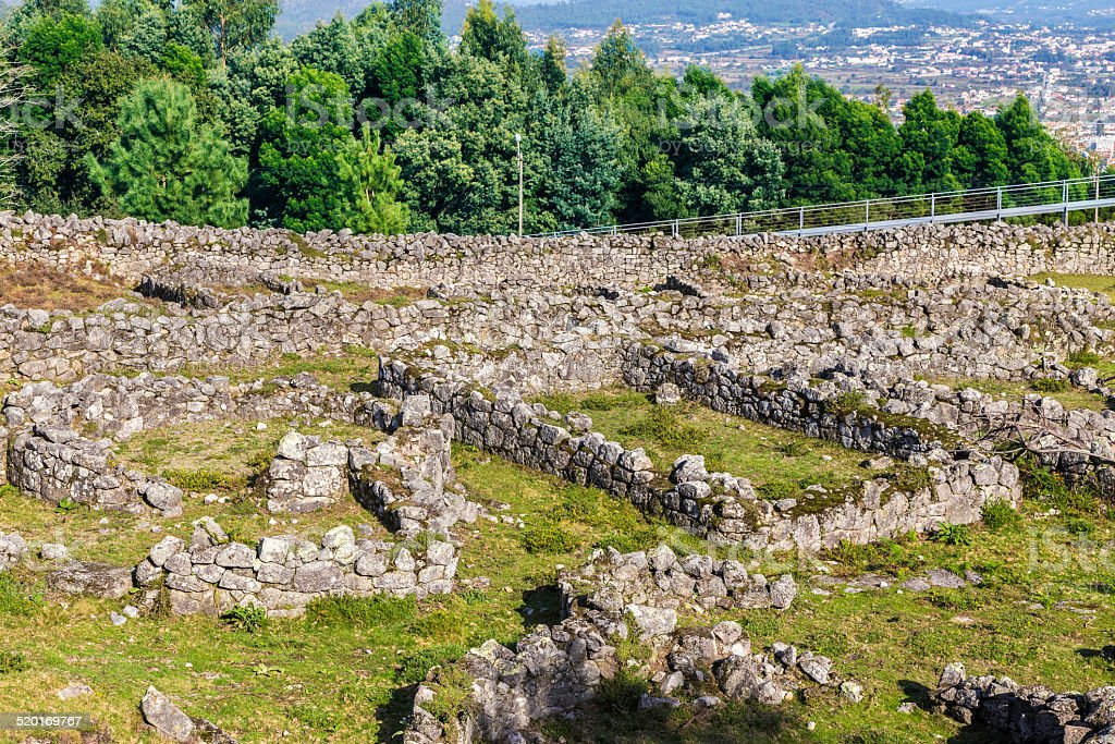 Citânia ruins at Santa Luzia at Viana do Castelo stock photo