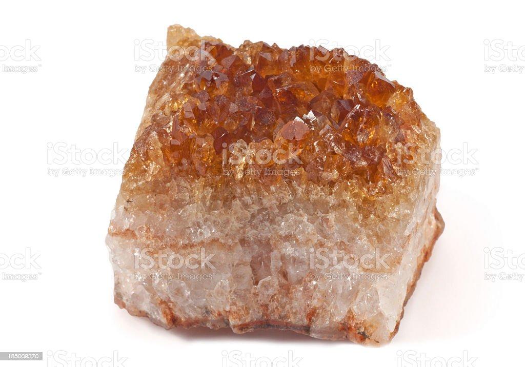 Citrine - half precious stone. guaranteed authentic royalty-free stock photo
