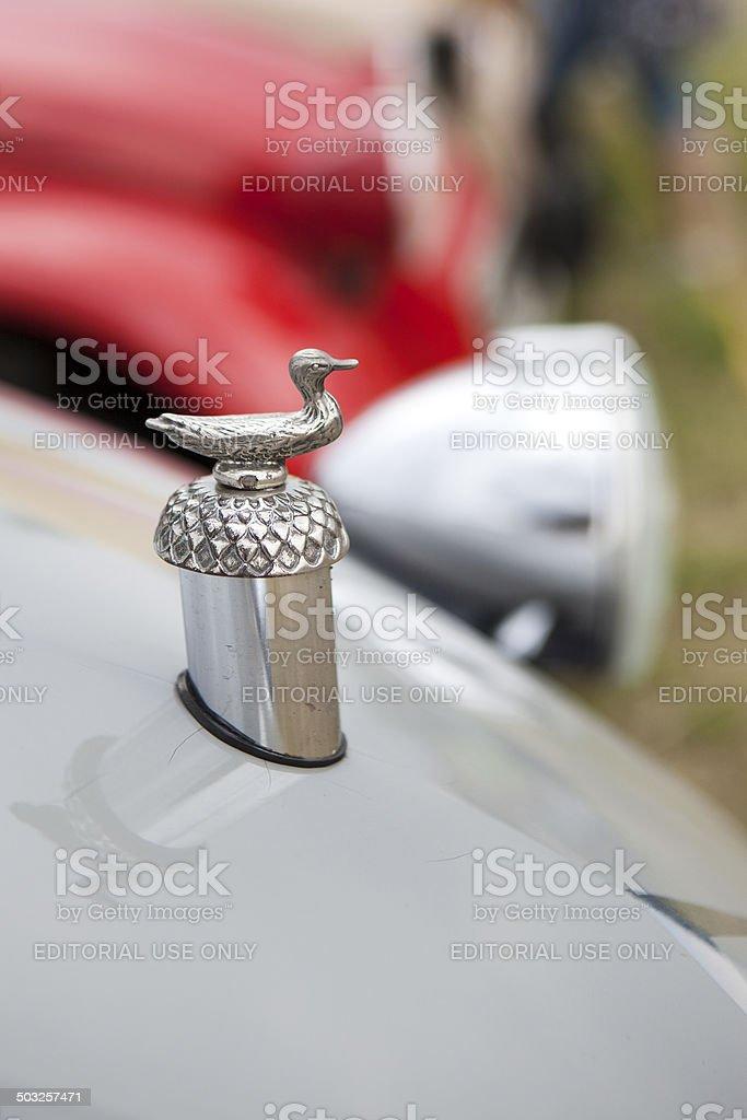 Citroen 2CV - bonnet mascot royalty-free stock photo