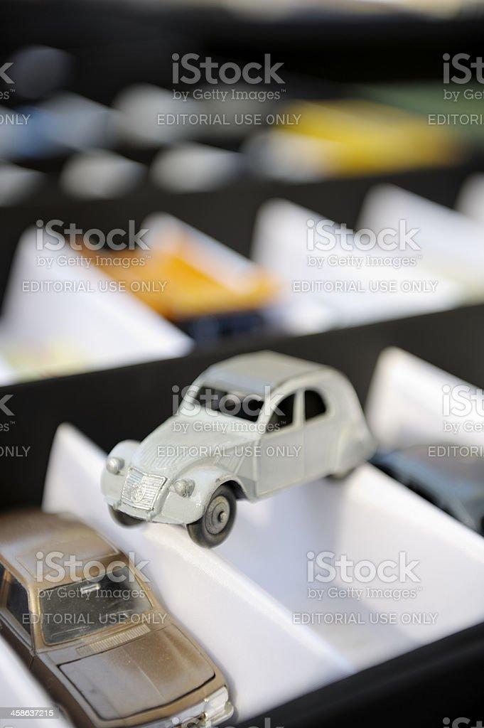 Citroen 2CV Toy Car in Metal royalty-free stock photo