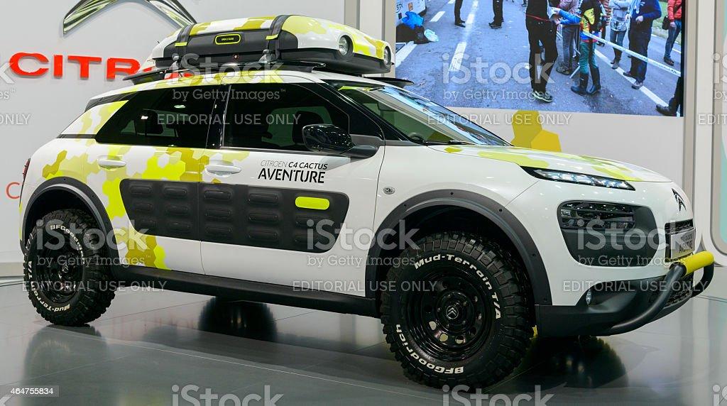 Citroen C4 Cactus Aventure concept car stock photo