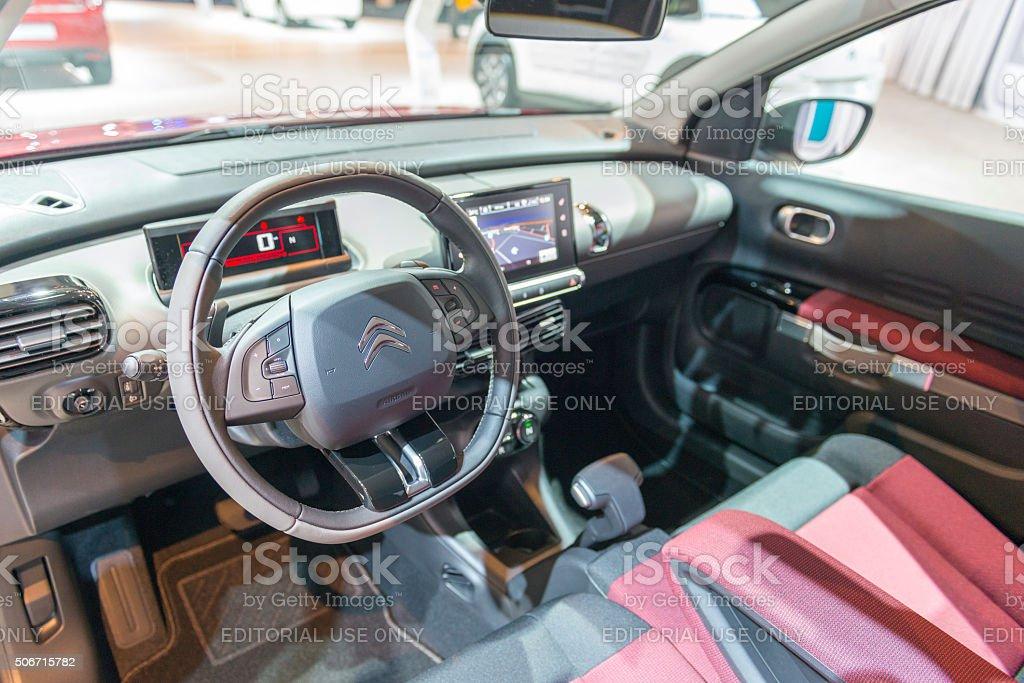 Citroen C4 Cactus hatchback interior stock photo