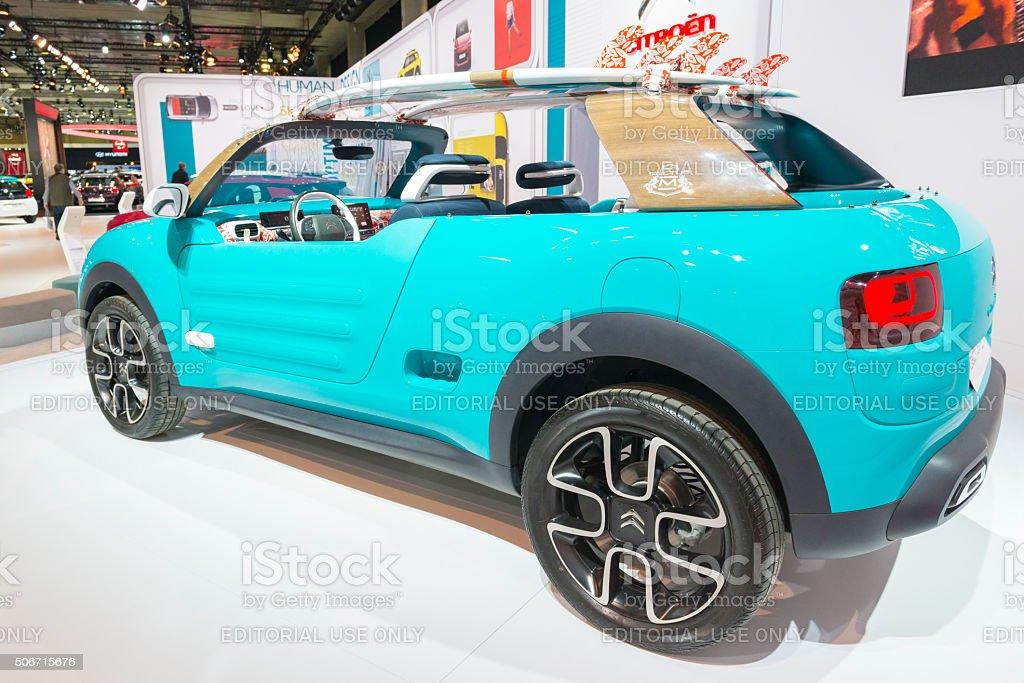 Citroen C4 Cactus M Concept convertible car stock photo