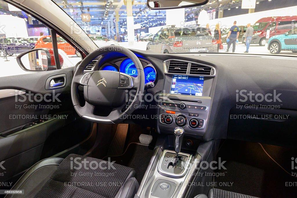 Citroen C4 family car interior stock photo