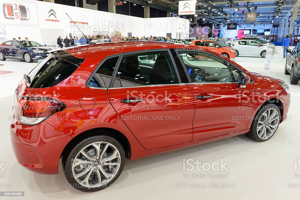 Citroen C4 hatchback car stock photo