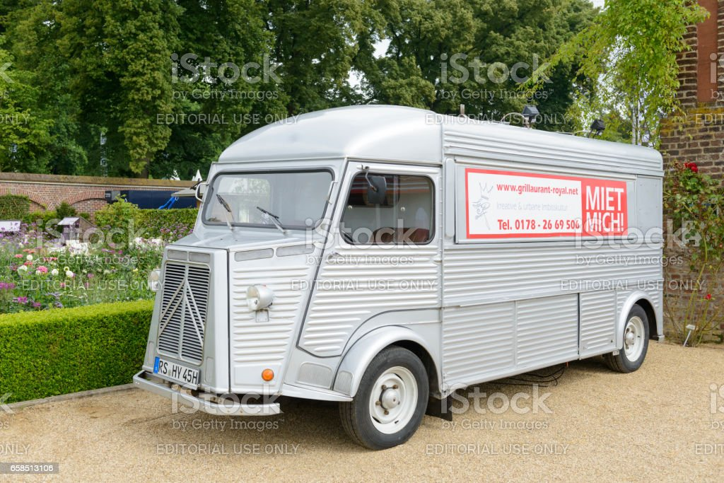 Citroen HY classic panel van parked in a park stock photo
