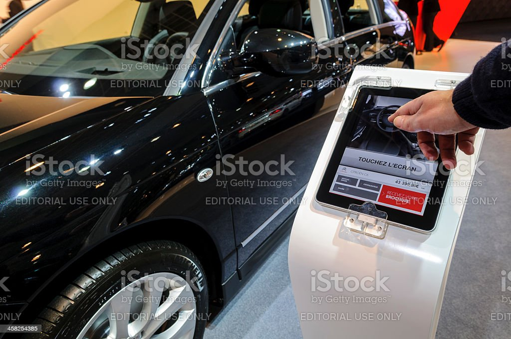 Citroen information display royalty-free stock photo