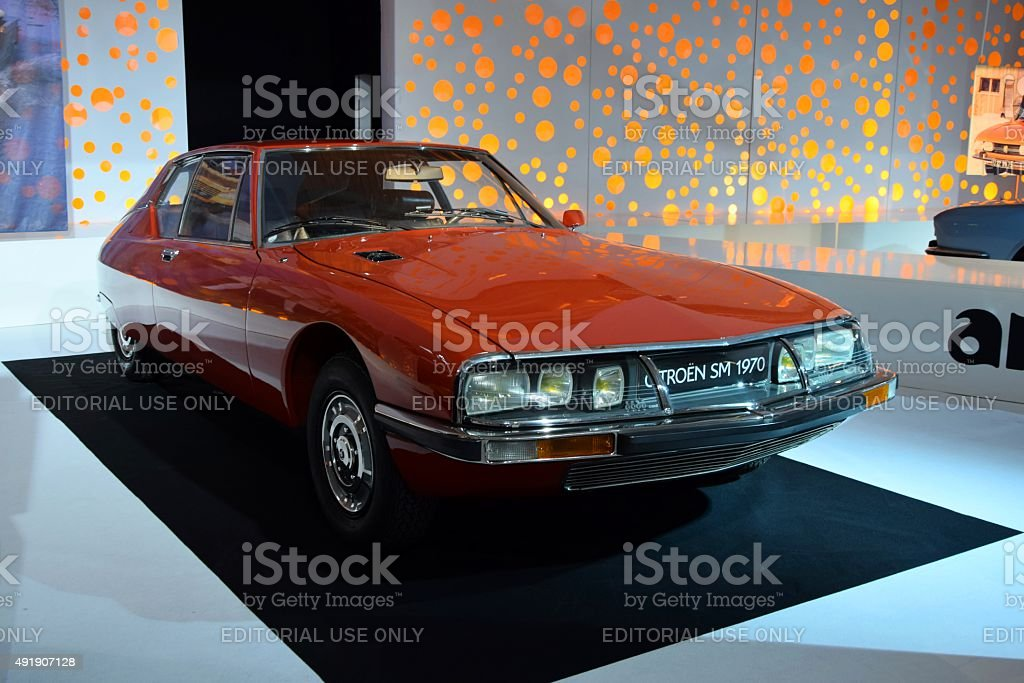 Citroen SM on the motor show stock photo