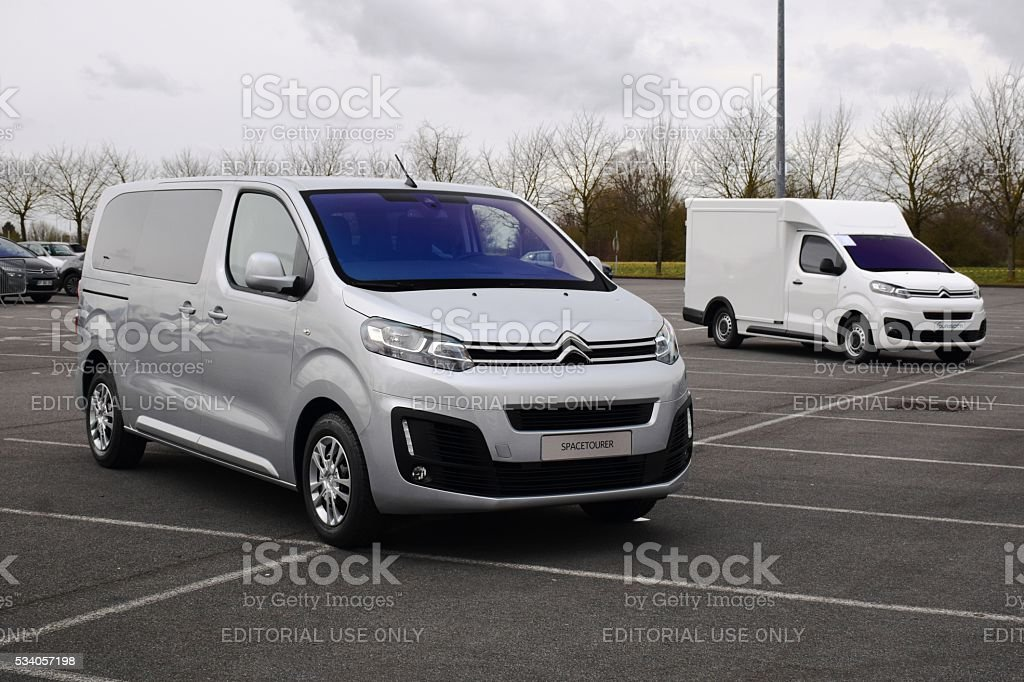 Citroen Spacetourer on the parking stock photo