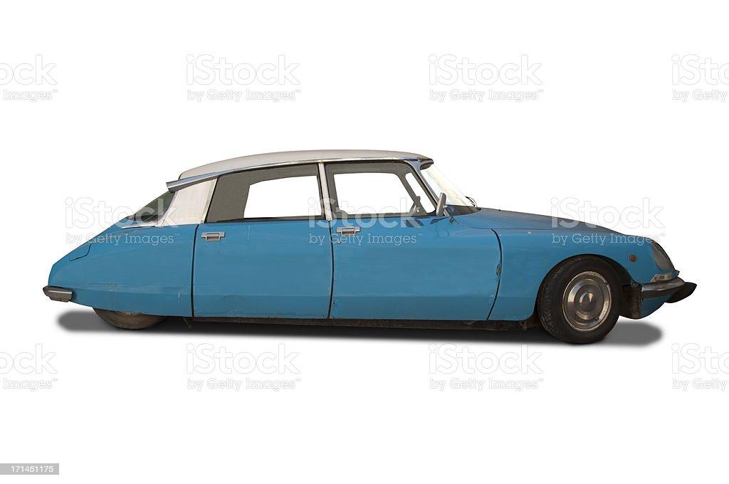 Citroën DS blue royalty-free stock photo