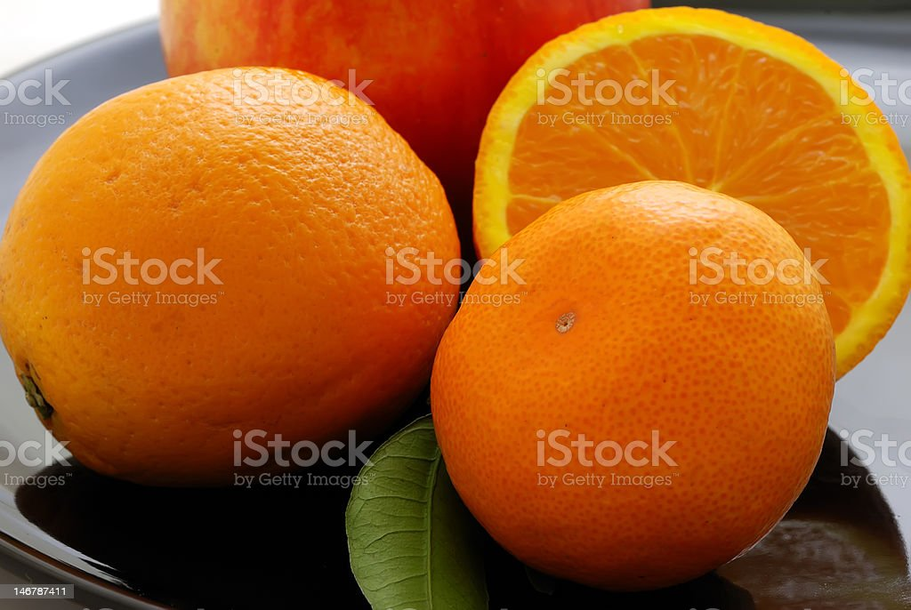 Citron fruits on a plate royalty-free stock photo