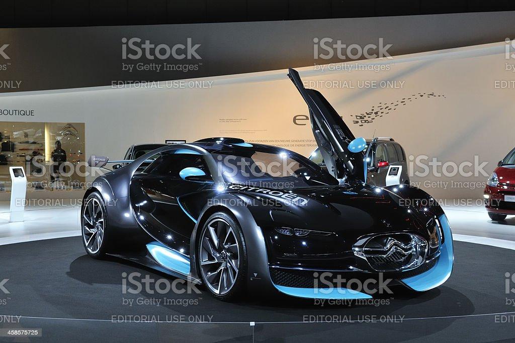 Citroën Survolt electric concept car front view stock photo