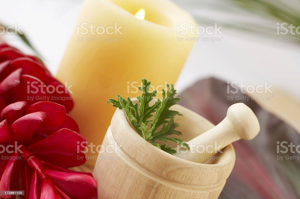Citronella in spa setting royalty-free stock photo