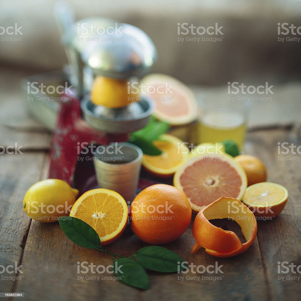 citrus and squeezer royalty-free stock photo