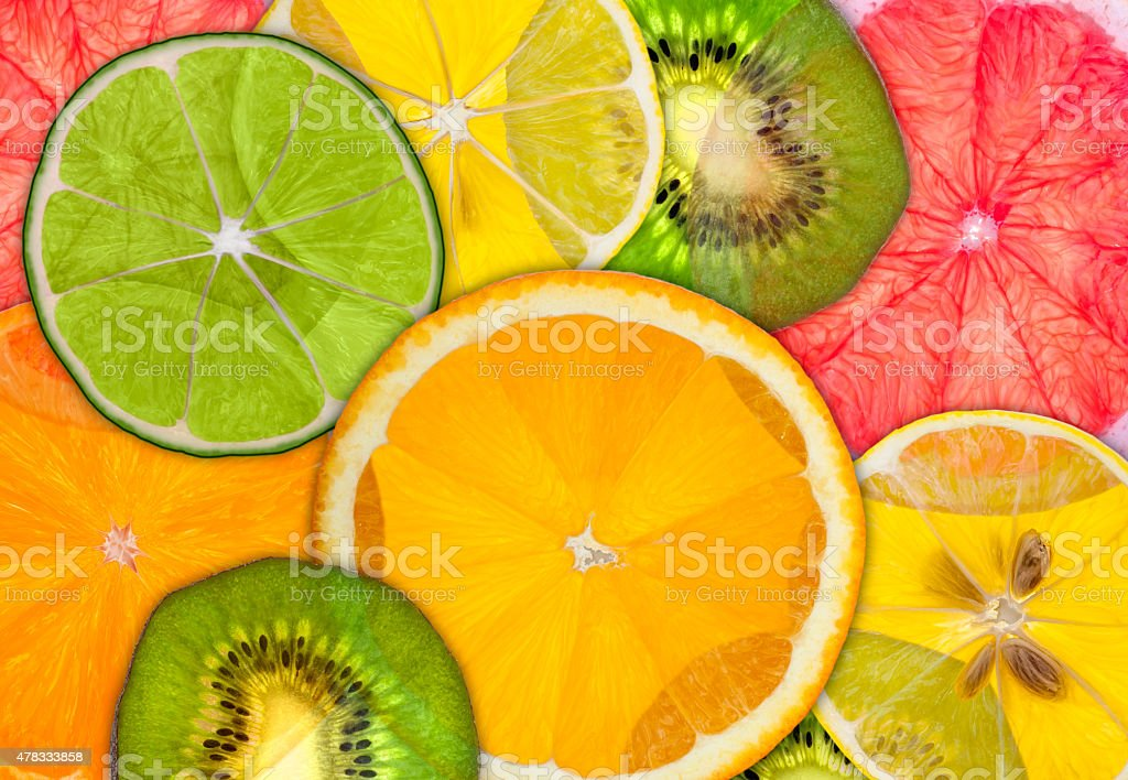 Citrus Backlit stock photo