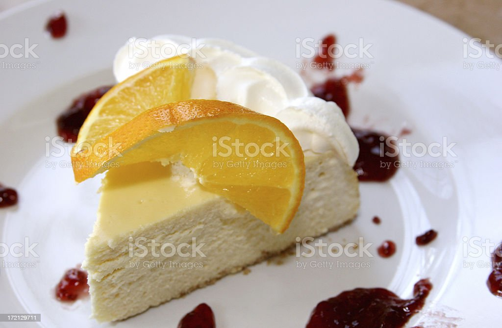 Citrus Cheesecake royalty-free stock photo