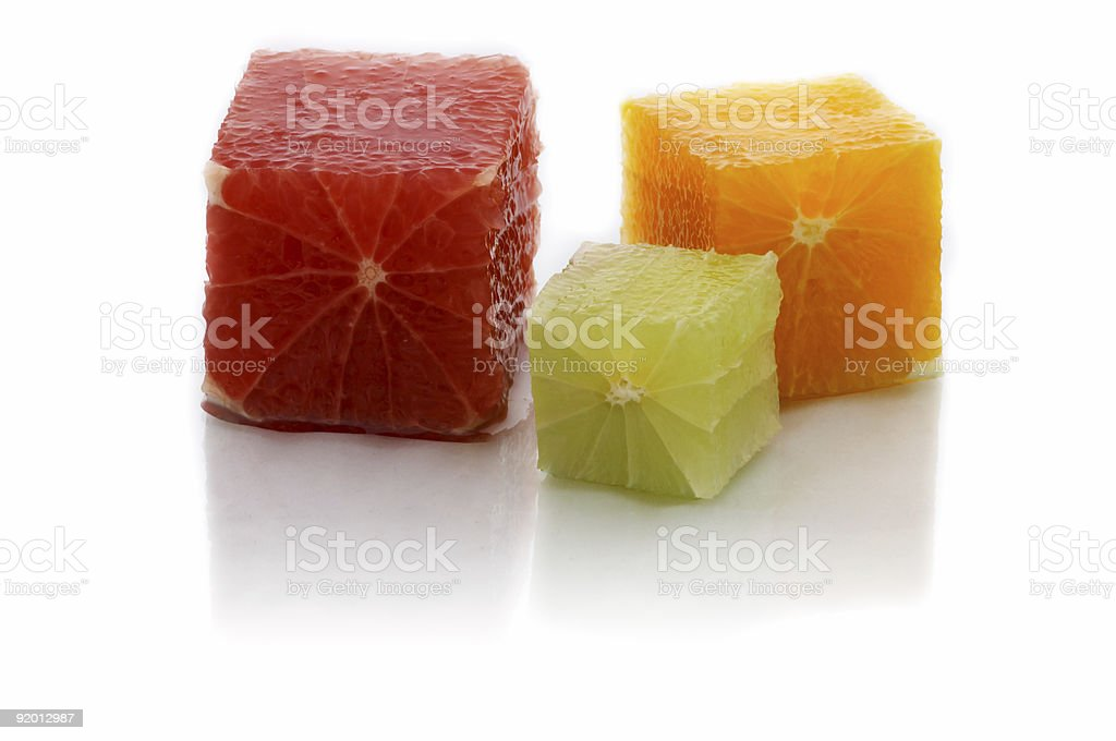 Citrus cubes royalty-free stock photo