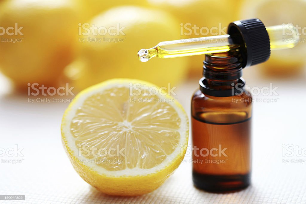 citrus essential oil stock photo