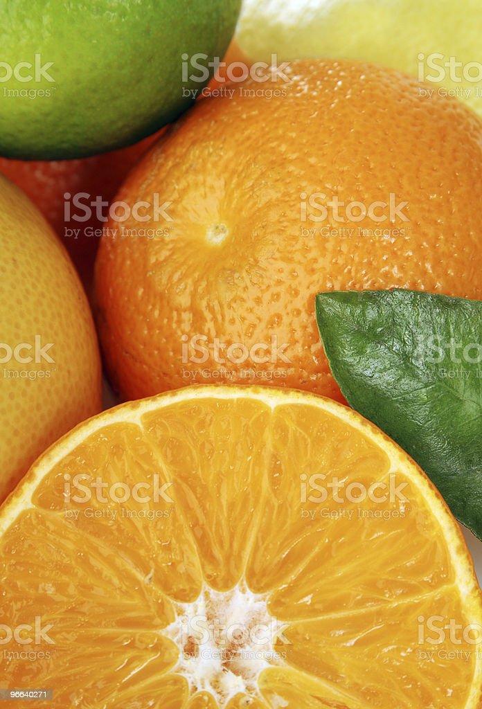 Citrus fruit in detail royalty-free stock photo