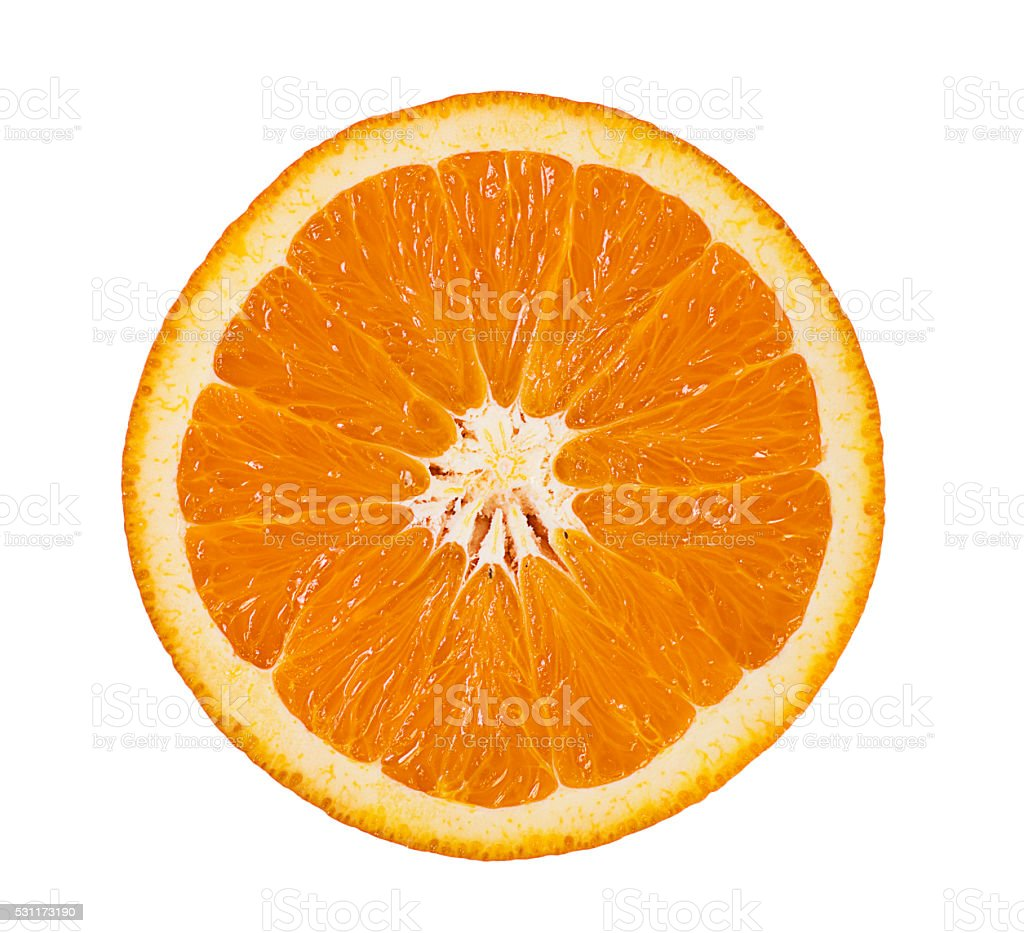Citrus Fruit - Orange Isolated on White stock photo