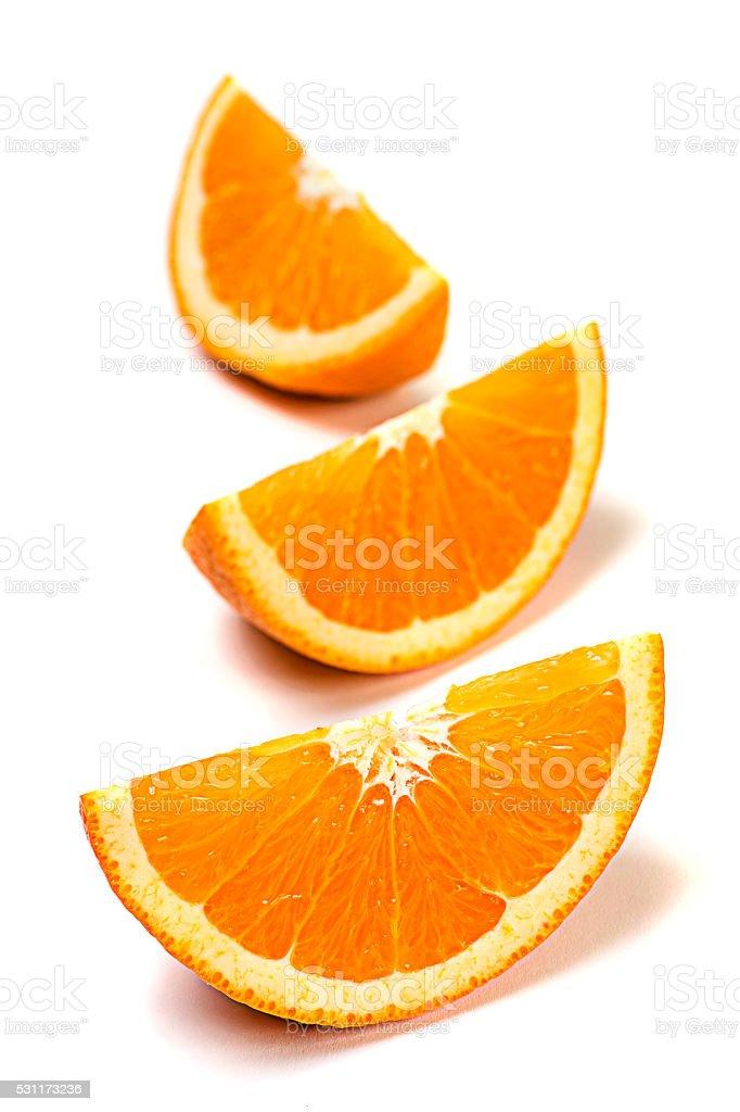 Citrus Fruit - Orange Isolated on White stock photo