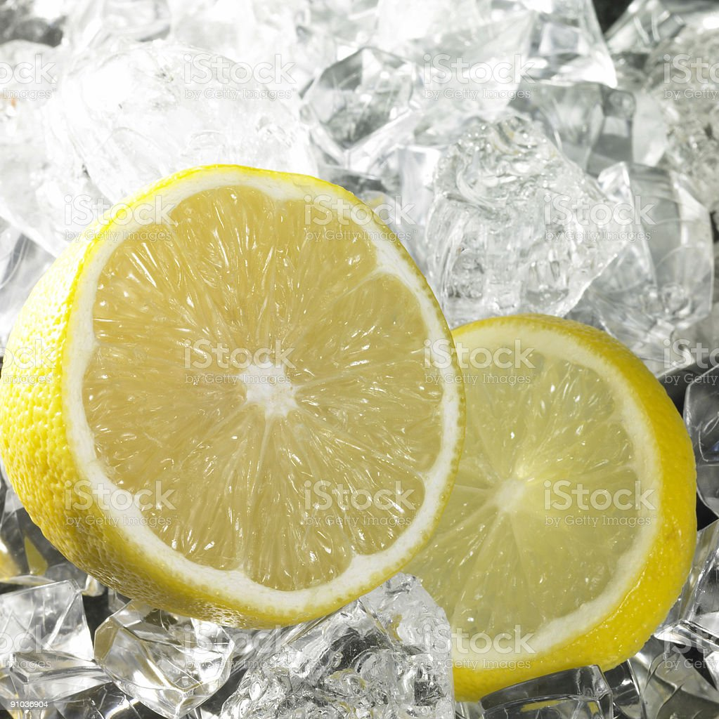citrus fruits and ice royalty-free stock photo