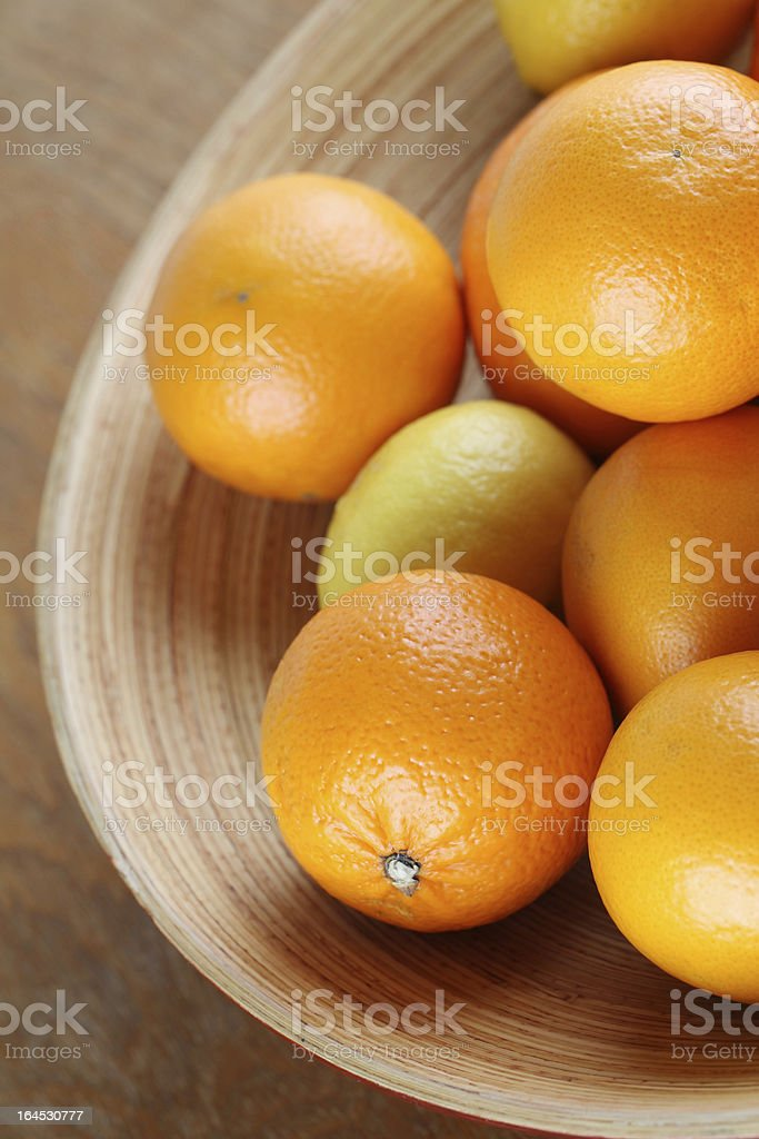 Citrus fruits in a bowl royalty-free stock photo