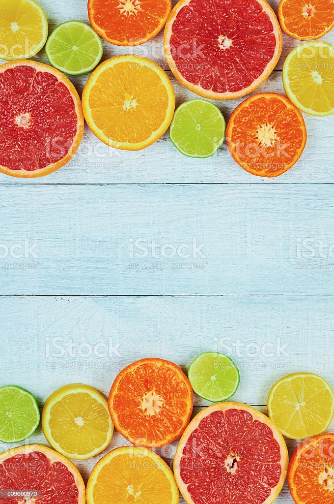 Citrus fruits stock photo