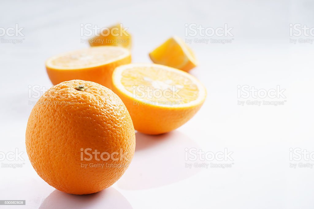 citrus fruits slices. Oranges stock photo