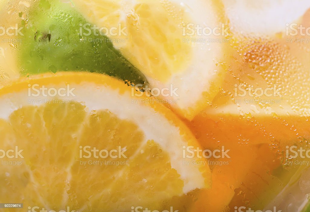 Citrus Ice Water royalty-free stock photo