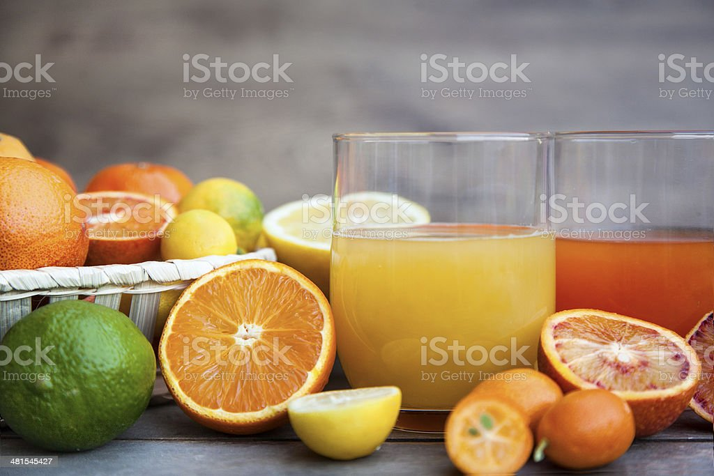 Citrus juice stock photo