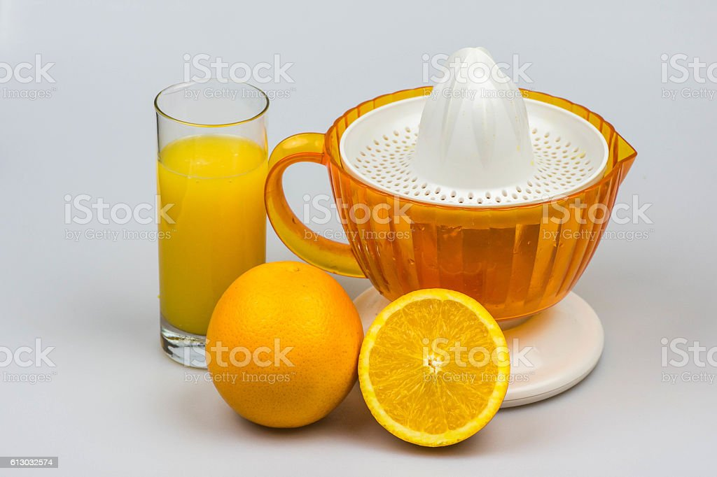 Citrus juicer stock photo