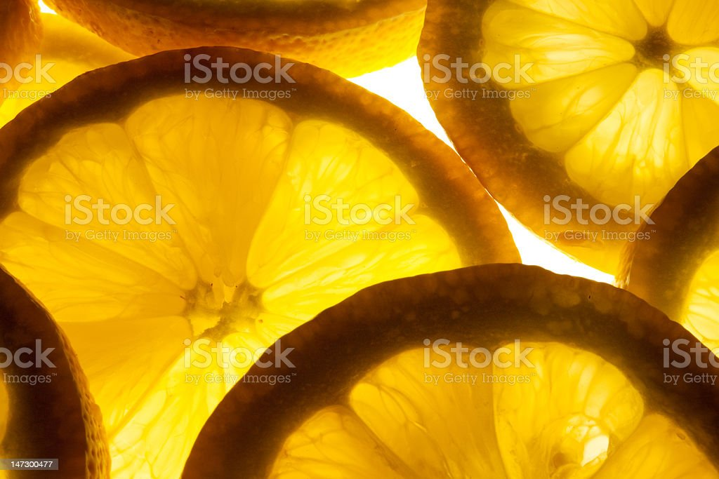 citrus lemon slices royalty-free stock photo