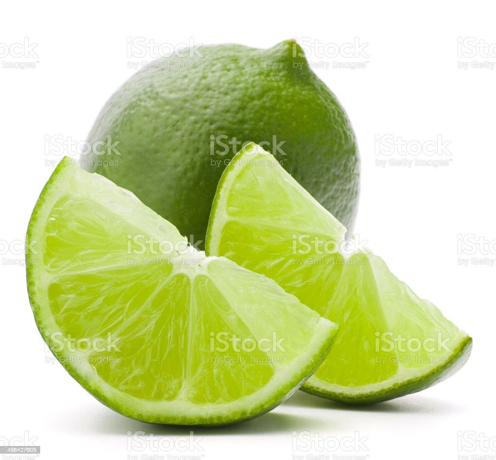 Citrus lime fruit isolated on white background cutout stock photo
