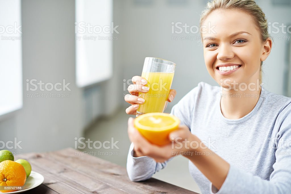 Citrus morning stock photo