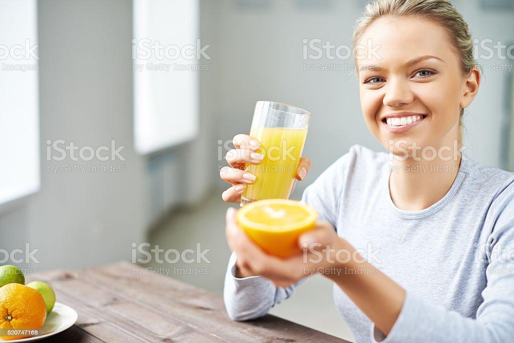 Citrus morning stock photo