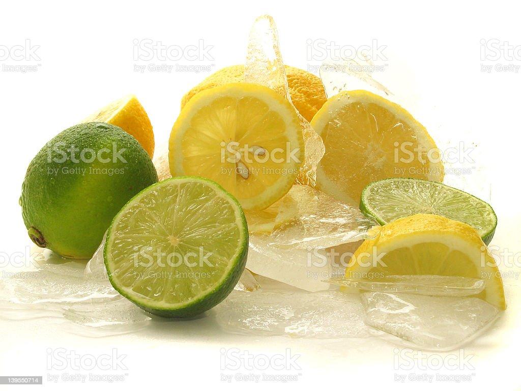 citrus on Ice stock photo