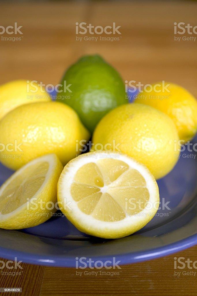 Citrus Plate 1 stock photo